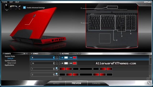 KITT M17x Alienware FX Theme