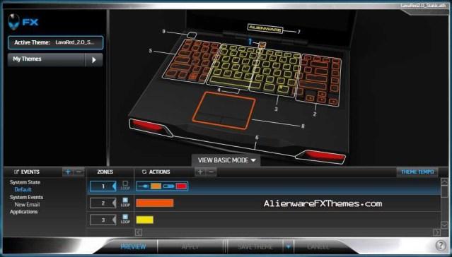 LavaRed Special Static M14x Alienware FX Theme