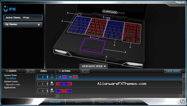 Mirage M14x Alienware FX Theme