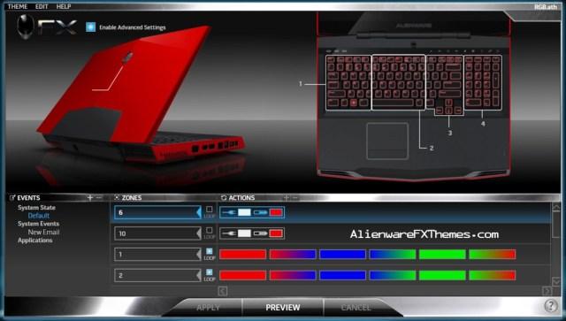 RGB M17x Alienware FX Theme