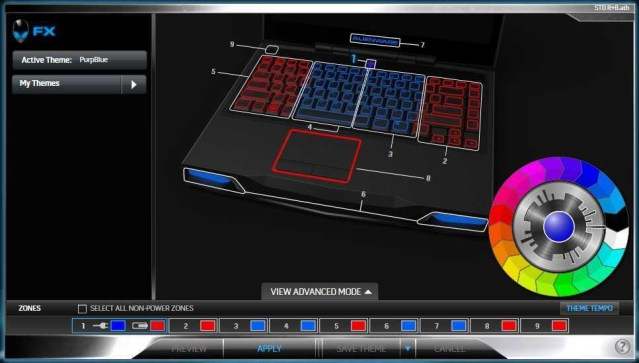 Red Blue Middle Standard M14x Alienware FX Theme
