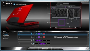 Purple Morph M17x Alienware FX Theme
