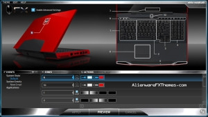 White Morph M17x Alienware FX Theme