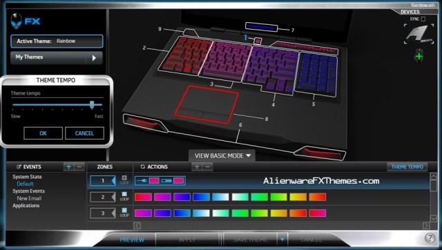 Rainbow M17x R3 R4 Alienware FX Theme