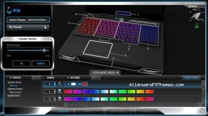 Rainbow Modified M17x R3 R4 Alienware FX Theme