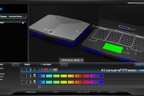 Rainbow Morph by iDecryption Alienware 14 FX Theme