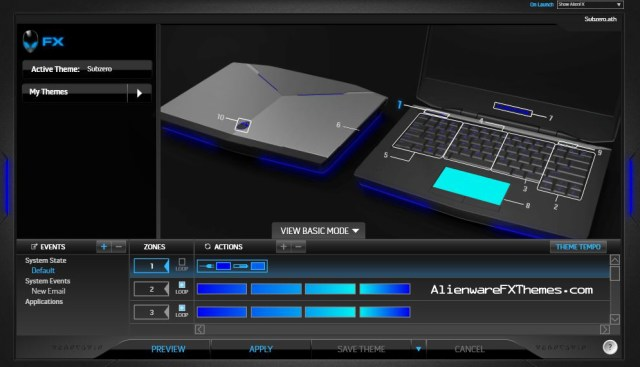 SubZero by TheHolyJuiceBox Alienware 14 FX Theme