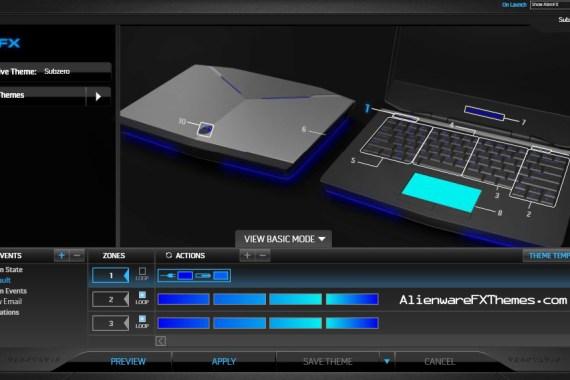 SubZero by TheHolyJuiceBox Alienware 14 FX Theme