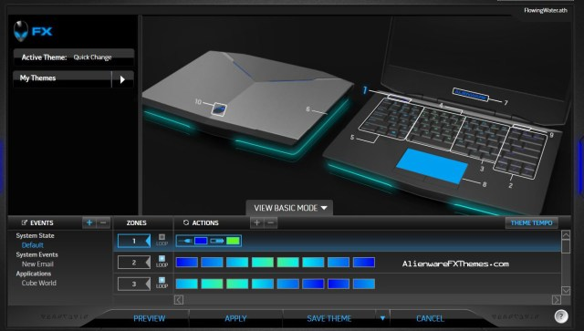 Flowing Water by Drenzior Alienware 14 Fx Theme