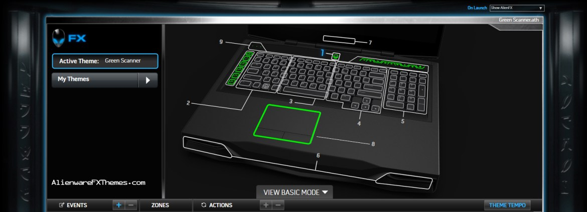 Green Scanner By PyRo Alienware M18x R2 Theme