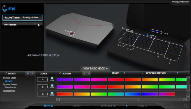 Phasing Rainbow by Aimz Alienware 13 R2 Fx Theme