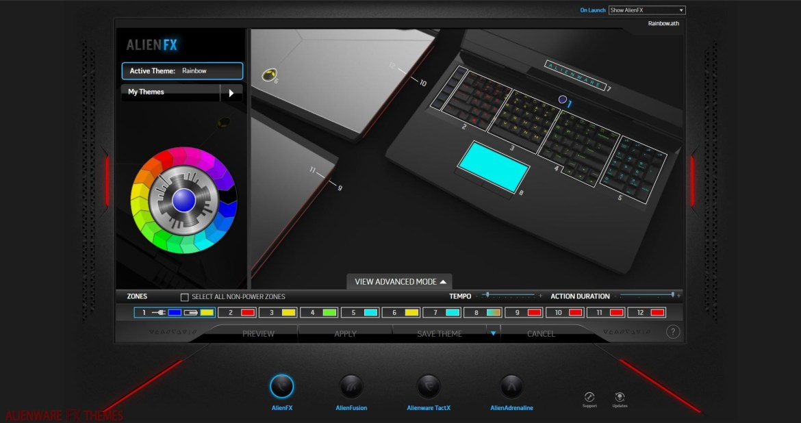 Rainbow by Mike Alienware 17 R4 Theme