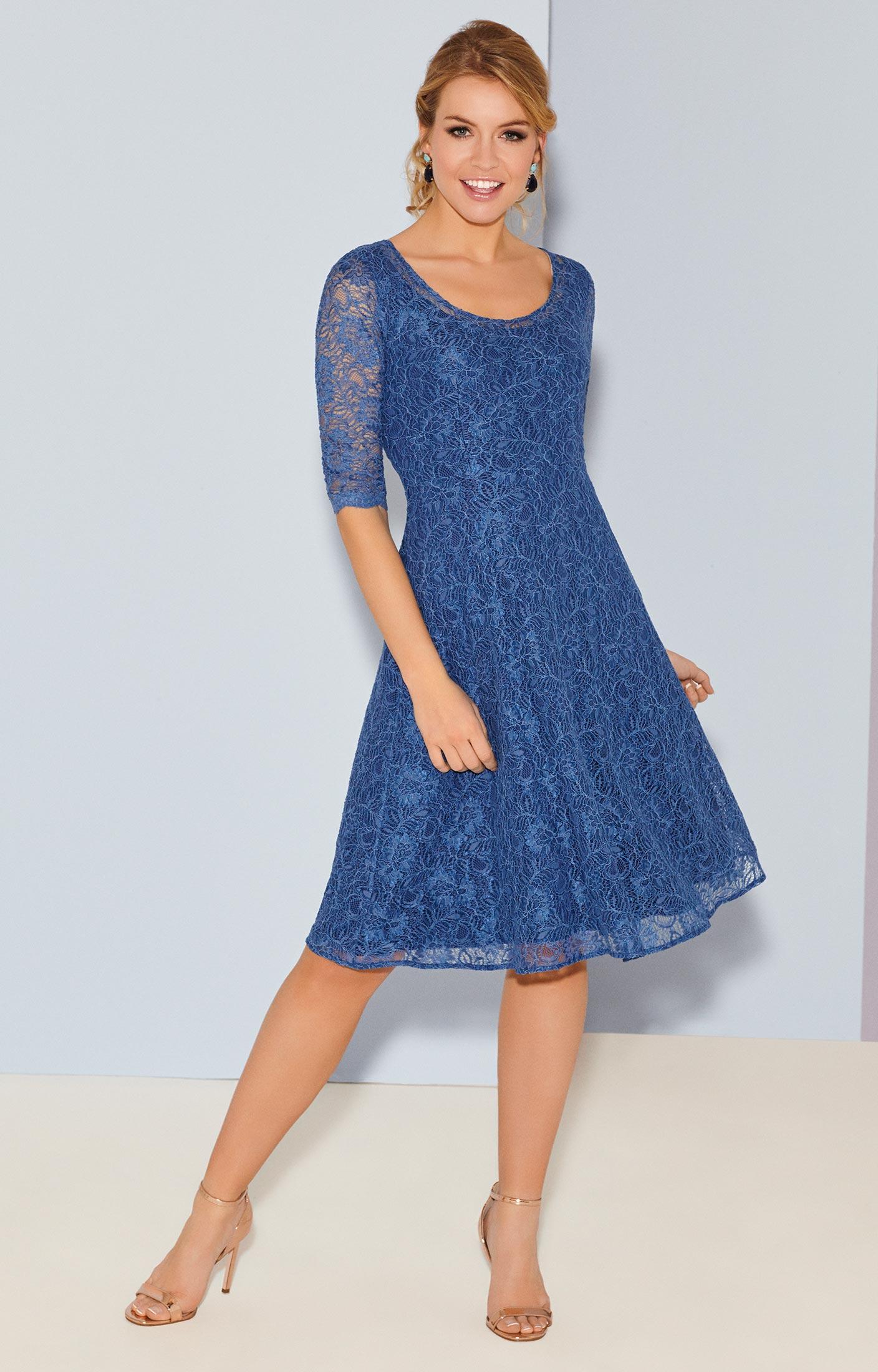 Arabella Kleid kurz in Riviera Blue  Hochzeitskleider