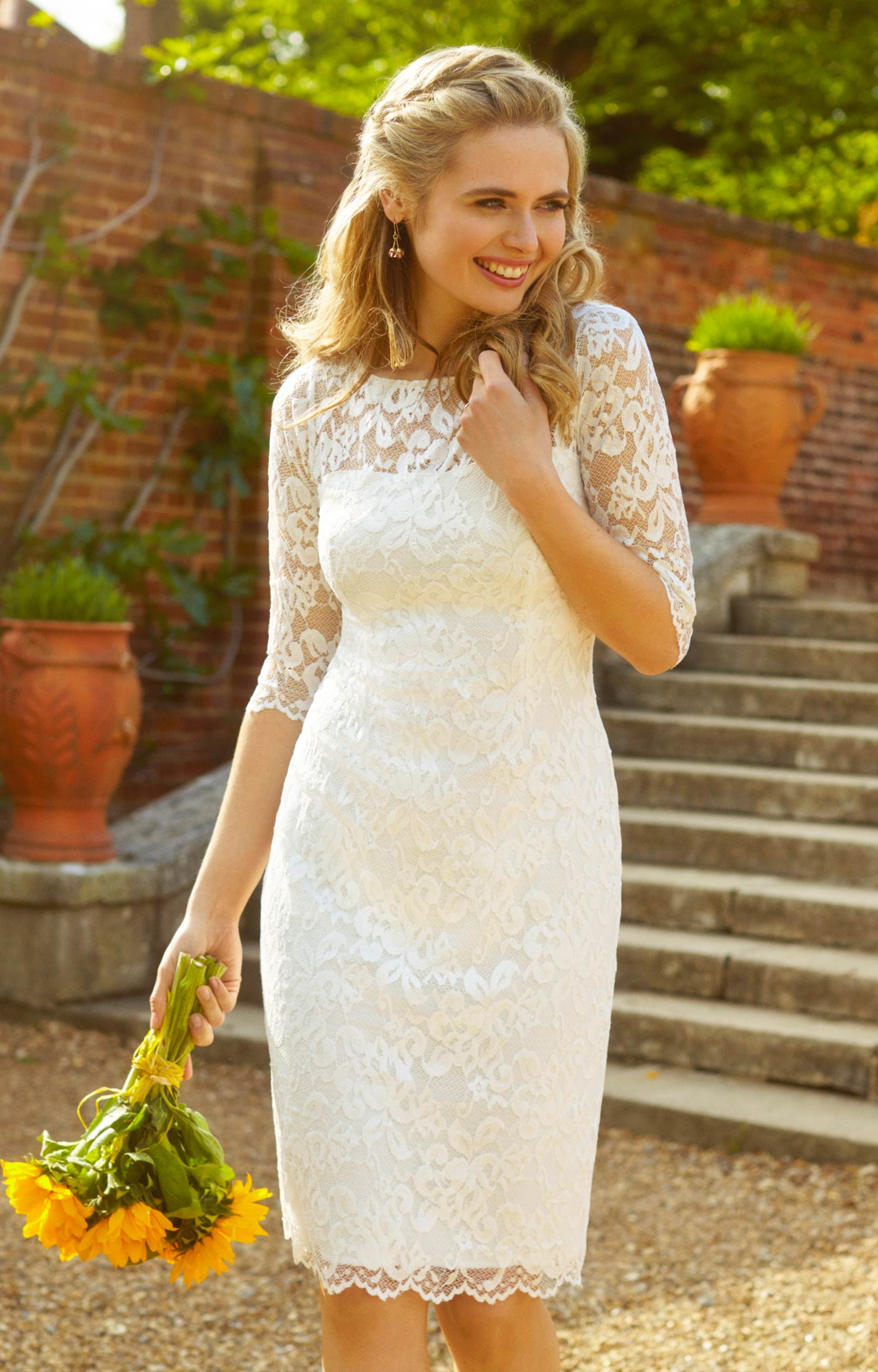 Lila Wedding Dress Short Ivory  Evening Dresses Occasion Wear and Wedding Dresses by Alie Street