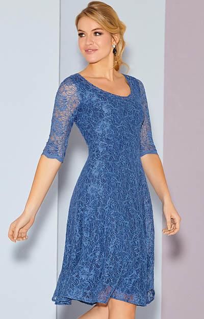 Arabella Kleid kurz in Riviera Blue  Hochzeitskleider Abendgarderobe und Partykleidung by Alie
