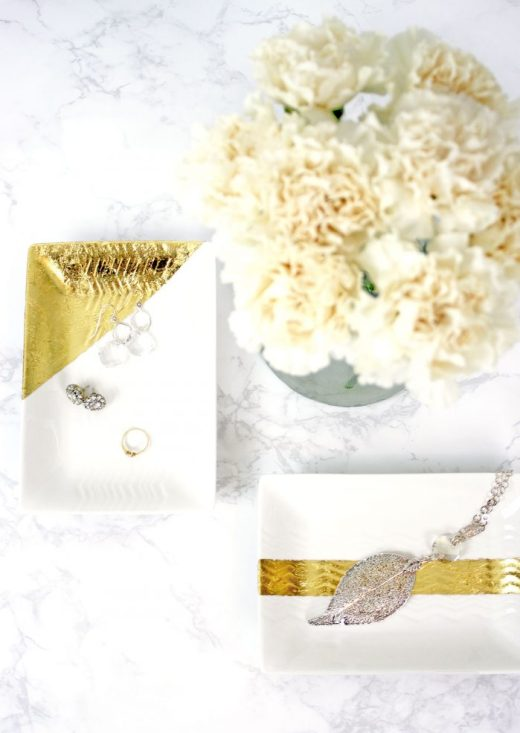 Easy gold leafed jewelry trays