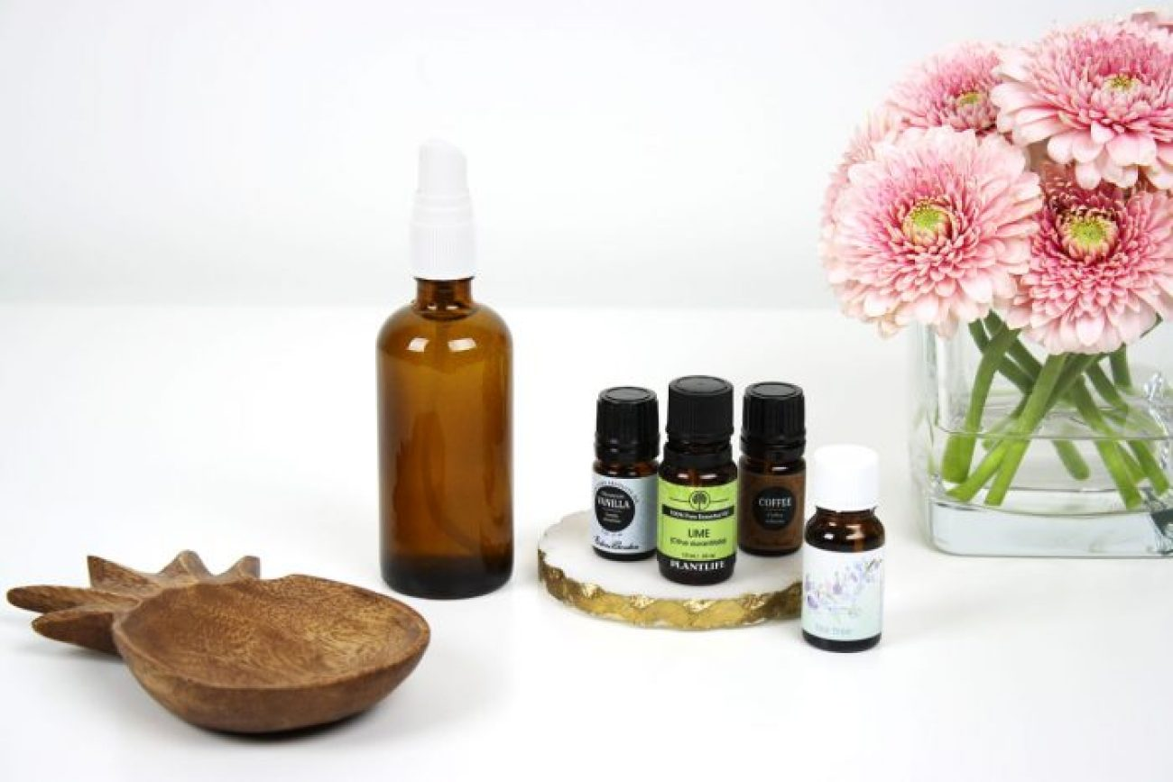 DIY homemade air freshener room spray with essential oils