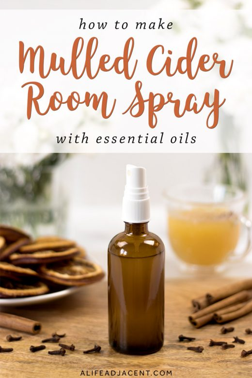 DIY mulled cider holiday room spray with essential oils