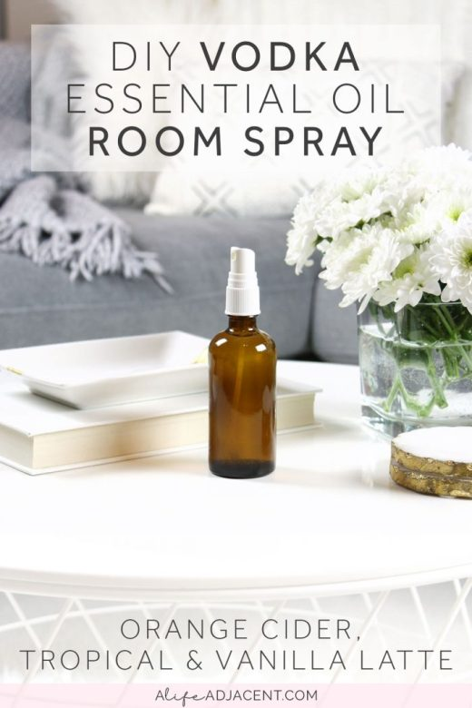 DIY vodka room spray air freshener spray with essential oils