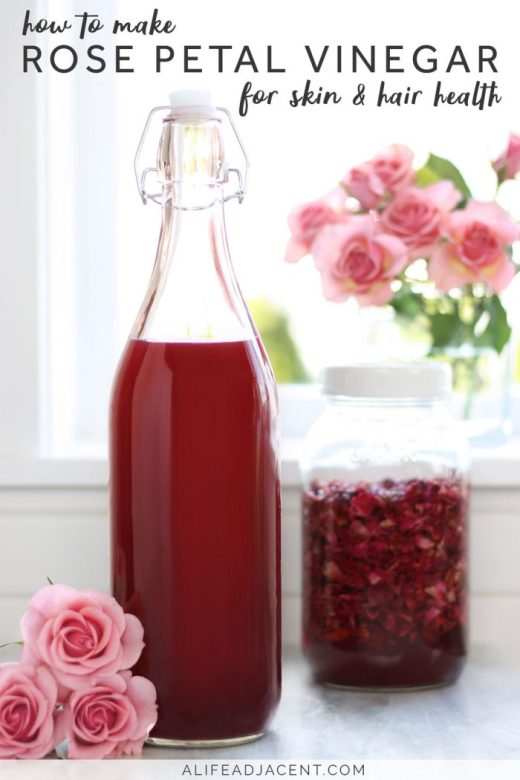 How to make rose vinegar at home
