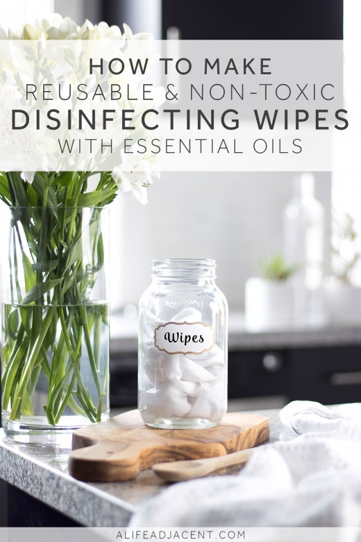 Non-toxic and reusable cleaning wipes in a mason jar