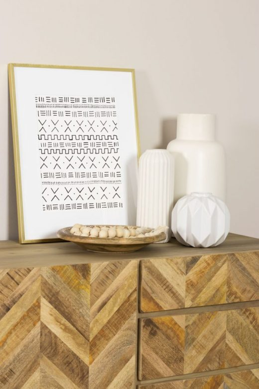 DIY framed African mudcloth-inspired art print