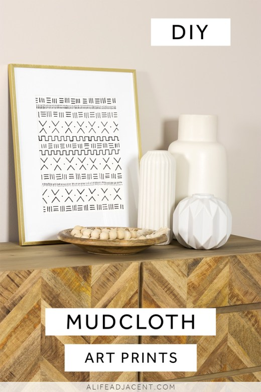 DIY mudcloth art prints