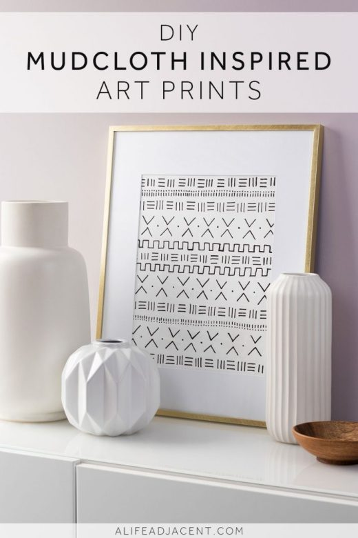 Make your own framed DIY African mudcloth inspired art print