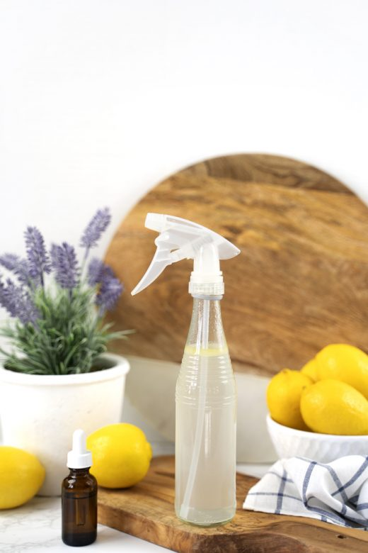 Bottle of glass cleaning spray without rubbing alcohol