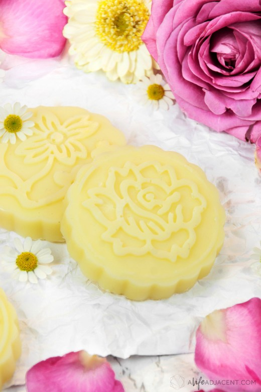 How to make homemade rose lotion bars