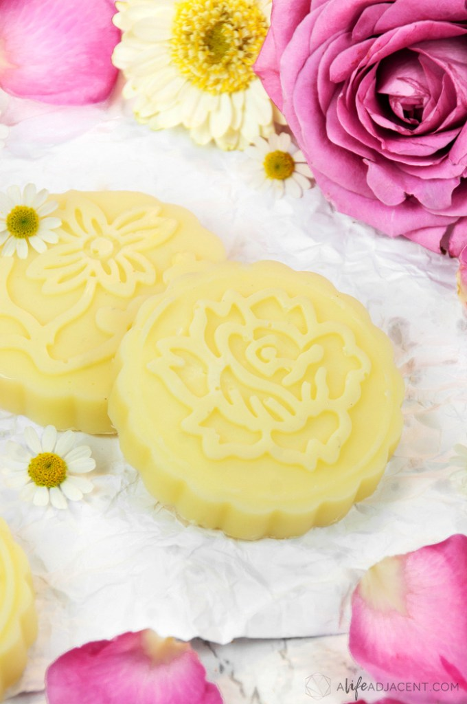 DIY rose lotion bars