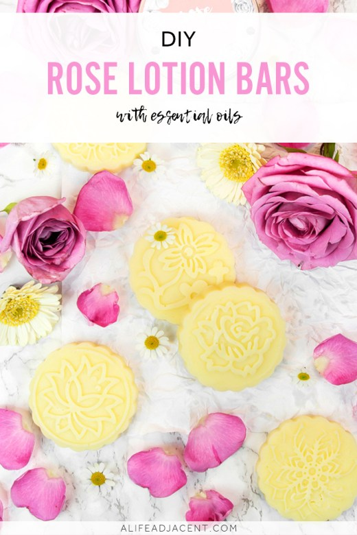 Lotion bars with rose essential oil
