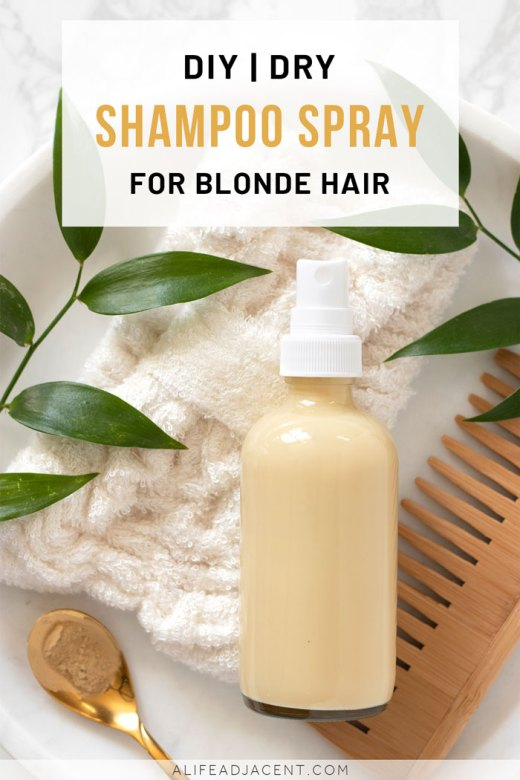 DIY dry shampoo for blondes spray