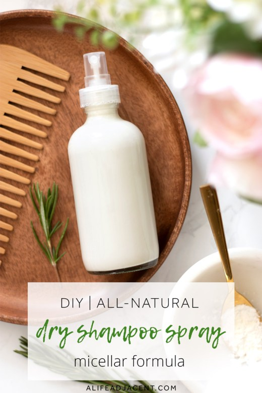DIY dry shampoo spray