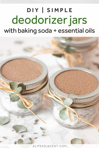 Deodorizer jars with baking soda