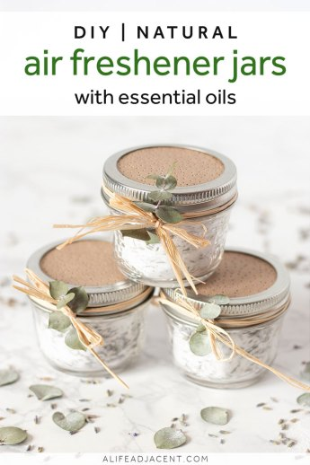 DIY natural air freshener jars with essential oils