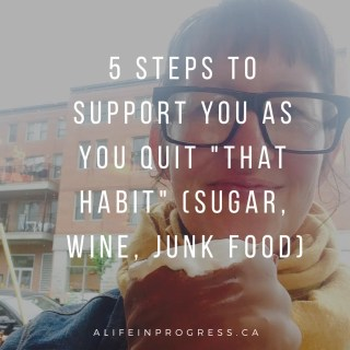 """5 Steps to Support Yourself as You Quit """"That Habit"""""""