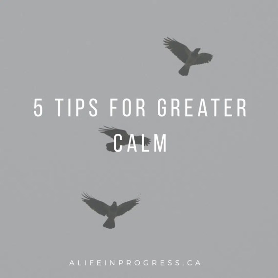 greater calm