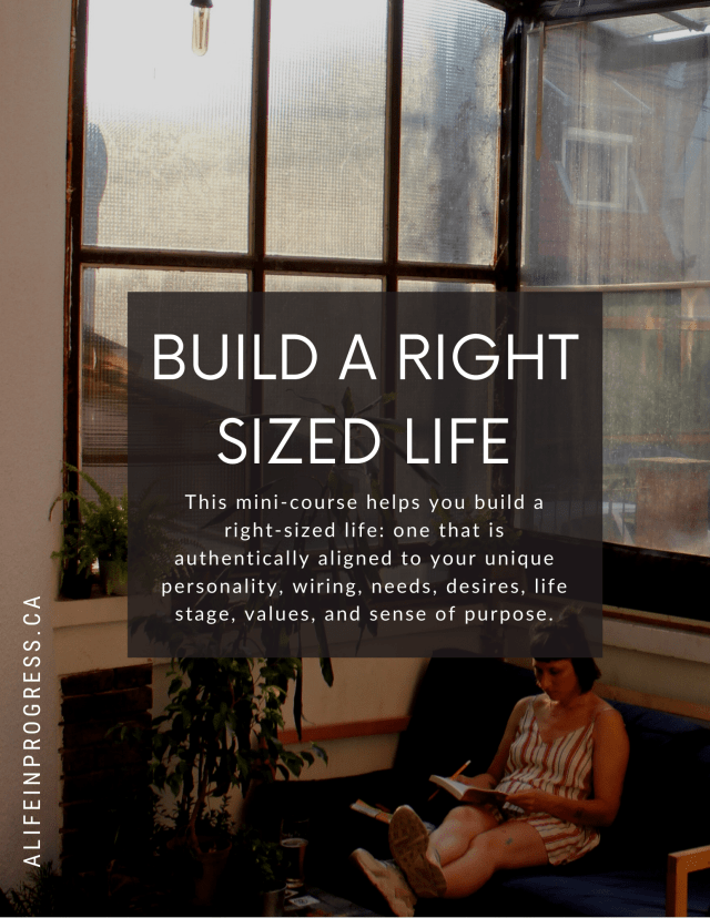 right-sized life