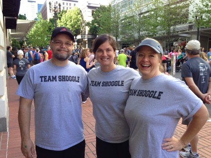 """Team Shoggle"" (That's right...shuffling, jogging and jiggling!)"