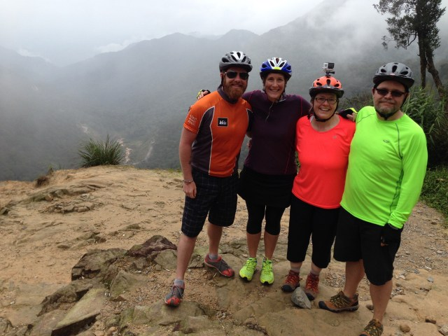 Biking through the mountains of Vietnam with our dear friends Kim and Brian.