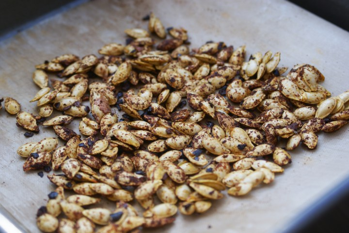 Chilli roasted squash seeds