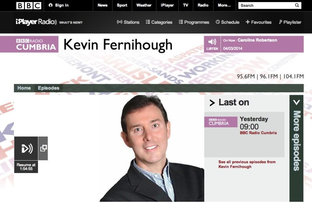 Radio chat with BBC Cumbria