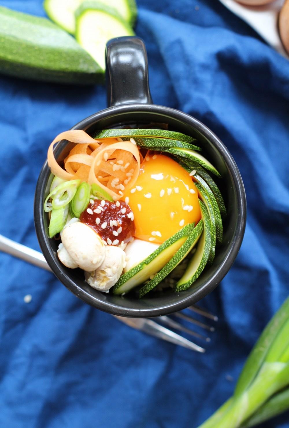 Easy bibimbap- microwave recipe