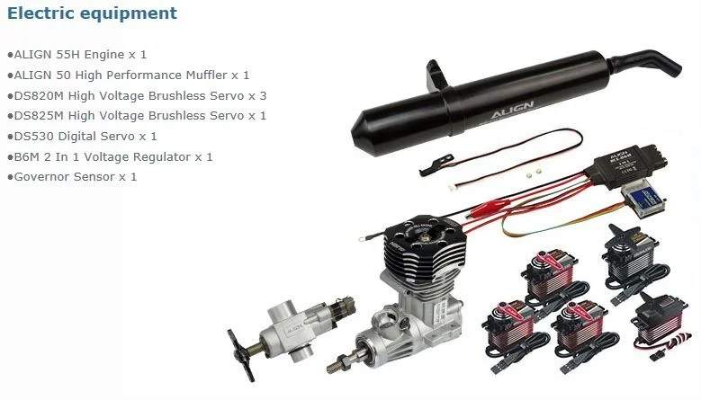 ALIGN-TREX Models Align T-REX 600XN Super Combo RH60N06XT