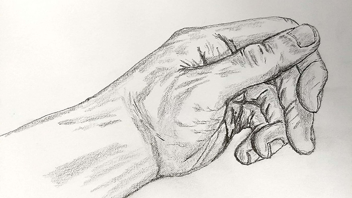 sketched hand align center drawing sketch creative challenge