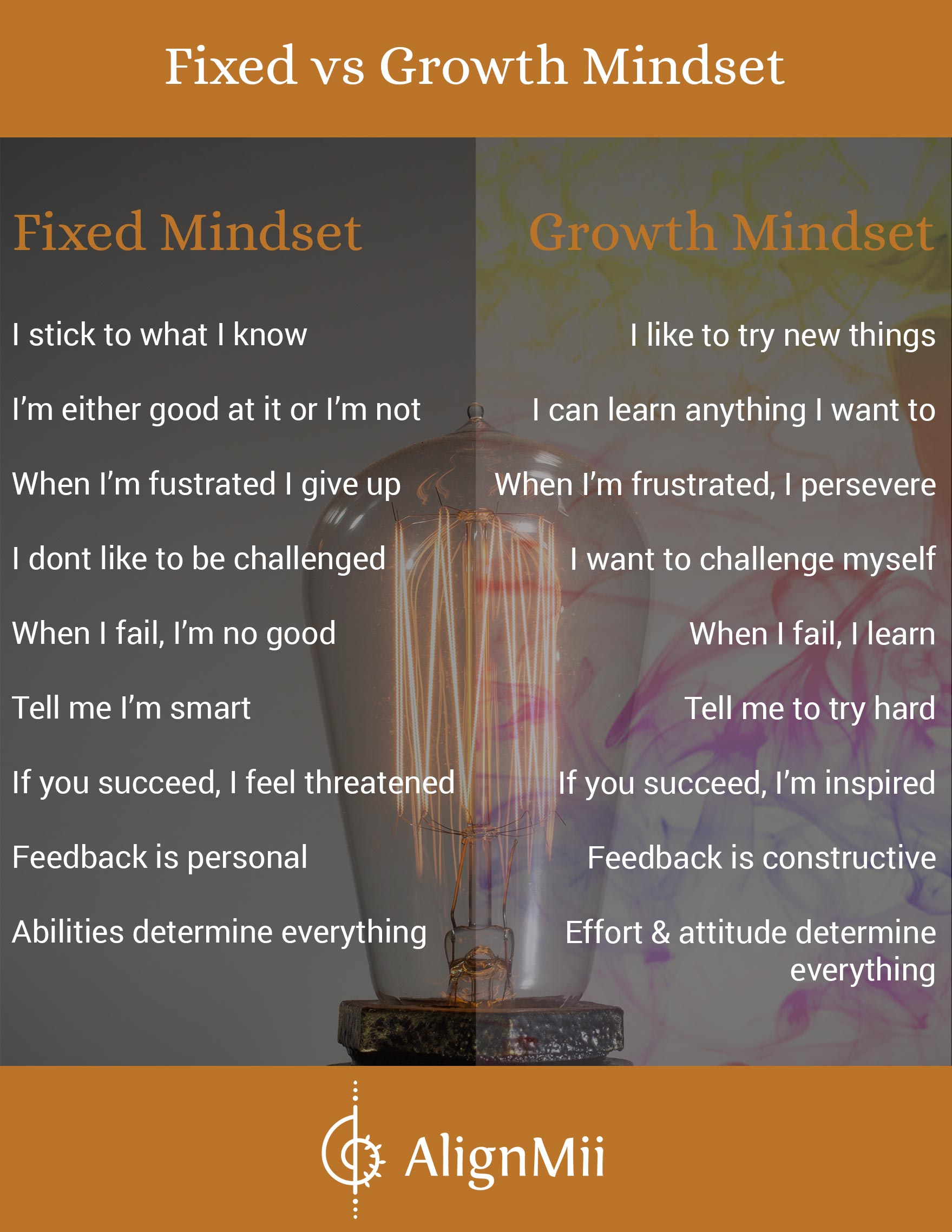 Fixed Mindset V Growth Mindset Alignmii