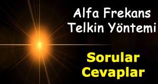 AlfaFrekans Telkin Sorular & Cevaplar alfafrekans telkin yontemi sorular 1