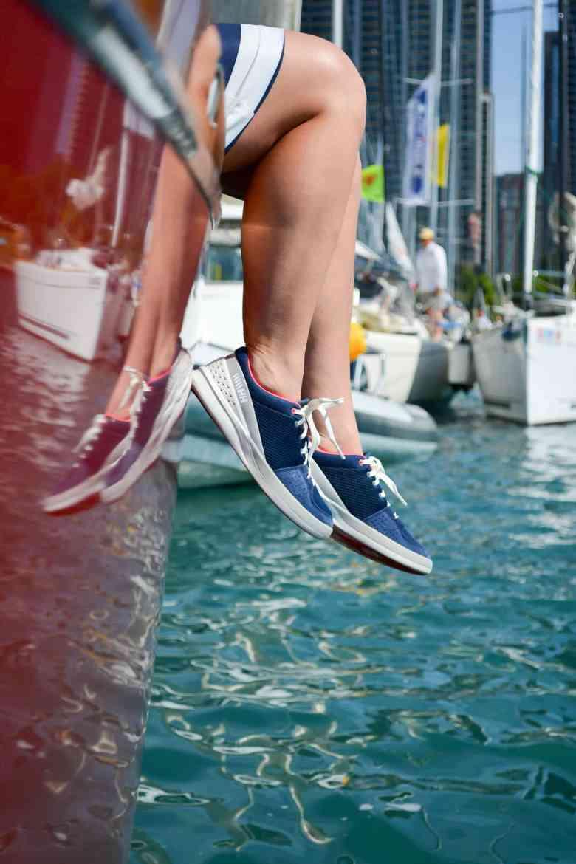 Helly Hansen Jacket, Sailing in Chicago, Lake Michigan, Chicago Fashion Blogger, NOOD Regatta Chicago, Helly Hansen Sport Dress, Nautical Style, Chicago Yacht Club, Helly Hansen Sneakers,