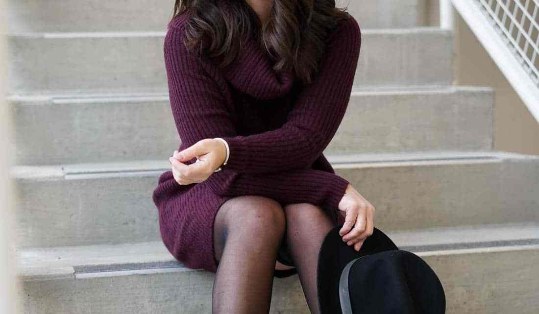 Burgundy Sweater Dress, Winter style, stuart weitzman booties, miu miu sunglasses, A Lily Love Affair, chicago blogger